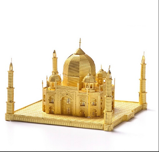 3D DIY Metal puzzle India Taj Mahal build model for adult/kids kindergarten educational diy toys for children Metallic Nano TOY