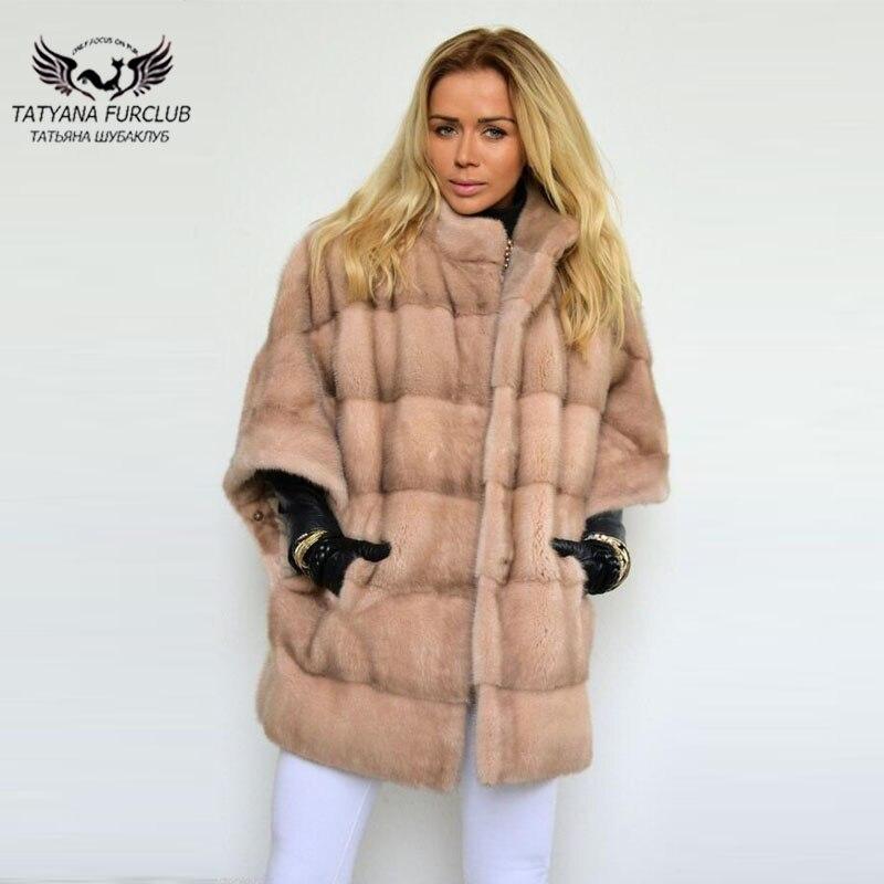 6dfeea60e839 Qualité D hiver Femmes Camel Mode Type De Chauve Tatyana Vestes Épais Haute  Populaire Light Vison Manteau ...