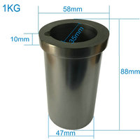 Graphite Crucible 1 KG Metal Melting Gold Silver Scrap Casting Mould New