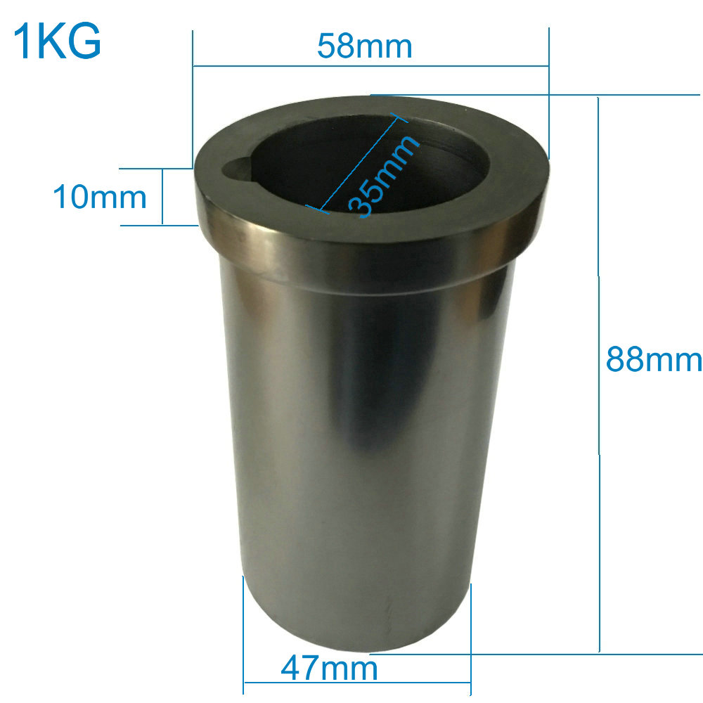 New 1KG Graphite Crucible for Melting Metal 99 99 Purity Refractarios Crucible Graphite High Intensity Gold