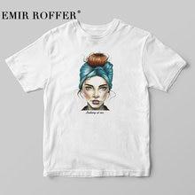 Fashion Cool Print Female T-shirt White Cotton Women Tshirts Summer Casual Harajuku T Shirt Femme Top