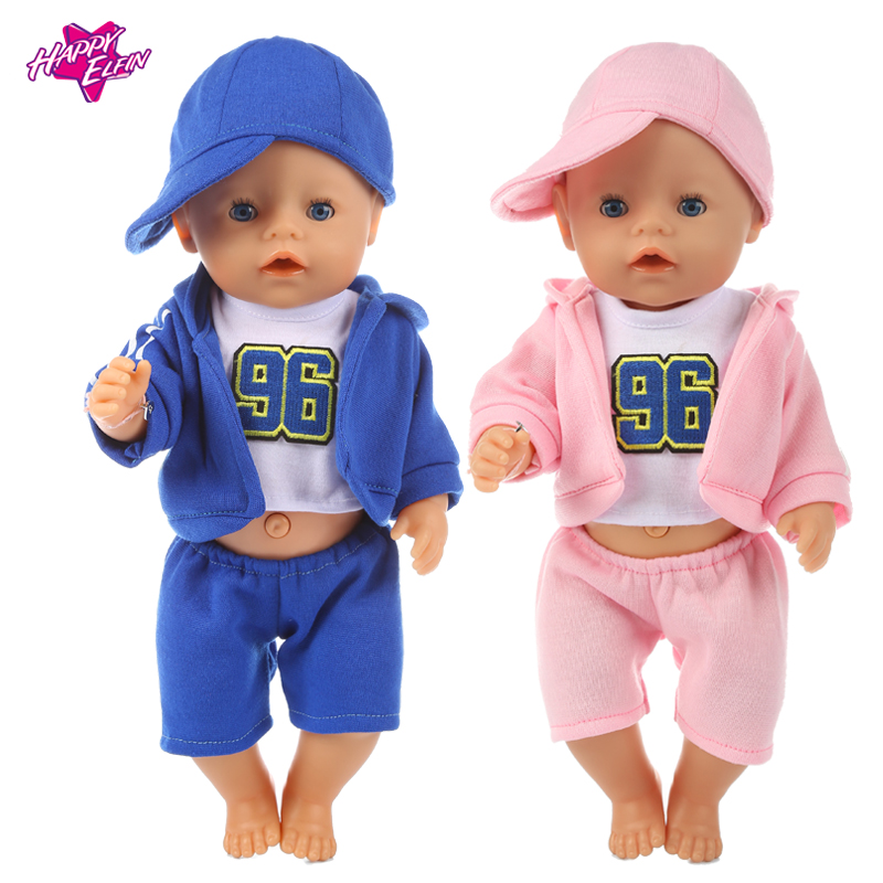 Baby born clothes 43 cm fit  Zapf doll 18in American Doll Clothes Value Suit Sport baby doll clothes Children Best Gifts baby rompers hello kitty baby boys girls clothing new born baby clothes winter jumpsuit christmas roupa de bebe recem nascido