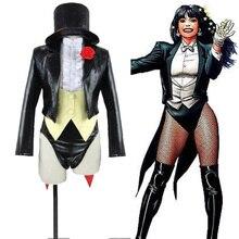 Justice League DC UNIVERSE Zatanna Cosplay Costume Halloween Carnival Costume Custom Made
