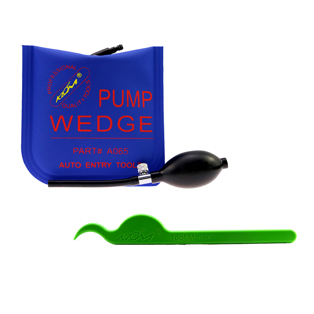 Free Shipping!Klom 1PC Plastic Lever Wedge Crowbar+1pc S Air wedge for Locksmith Tools