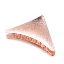 Fashion Woman Hair Accessories Gift Triangle Clip Metal Geometric Alloy Crab Hairband Moon Shape Barrette Girls Holder