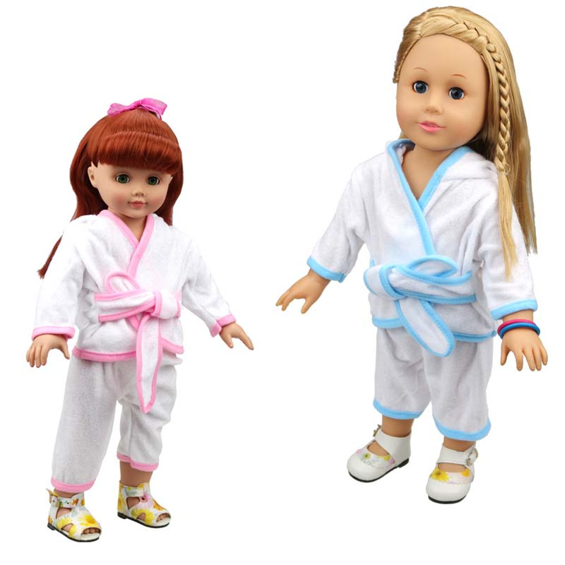 10Sets/Lot Wholesale Doll Accessories 45CM 18Inch American Girl Doll Clothes Pajamas Set