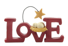 Decorative Love Letters and Baby Figurines Jesus Born to be Loved Home Decor Accessories Anniversary present New-Born