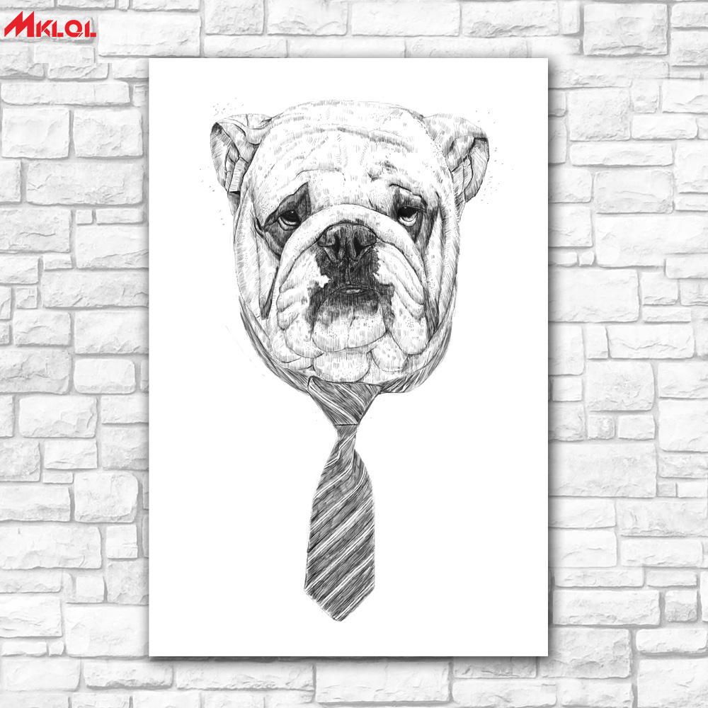 Large Wall Art,gentleman dog,Restaurant study Bedroom