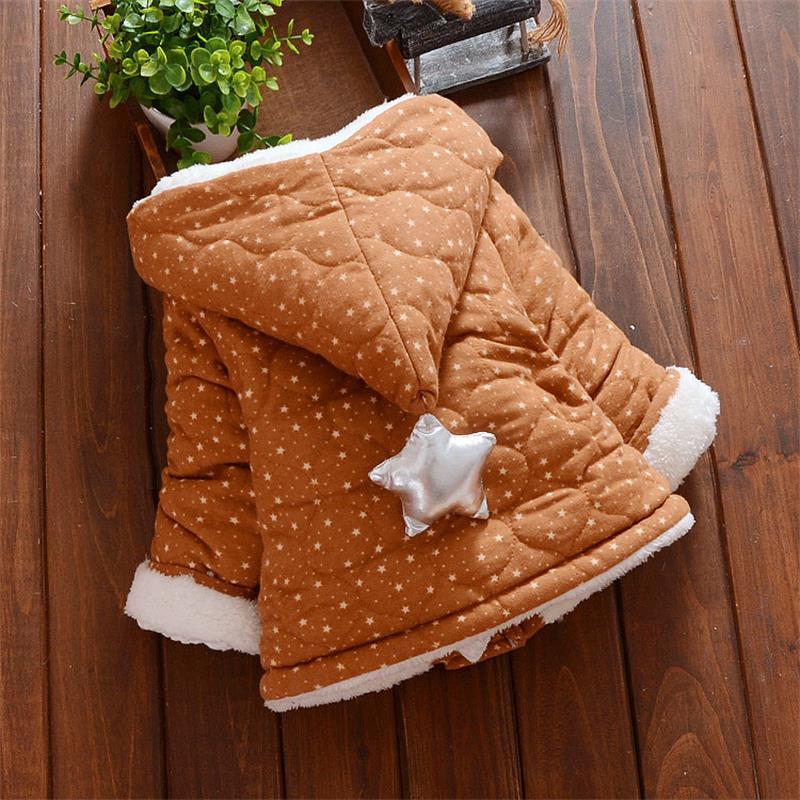 Freundlich Kinder Winter Jacke Für Mädchen Baby Nette Mit Kapuze Jacke Sterne Drucken Mantel Kinder Samt Parkas 12 Monate-3 Jahre Olds Ohne RüCkgabe