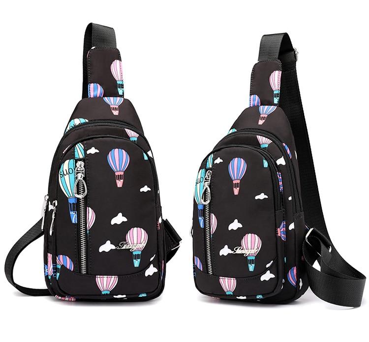 Moda floral padrão feminino peito saco de
