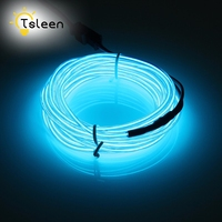 TSLEEN 2 3 5M 3v Battery Powered Neon Led El Wire String Strip Rope Tube Car
