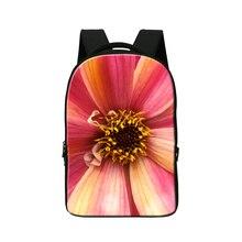 Цветок Печати Школы Бизнес-Ноутбук Сумка для 14 дюймов, Студенты Mochila, Девушки Bookbags, Мода Туризм для высокий Класс