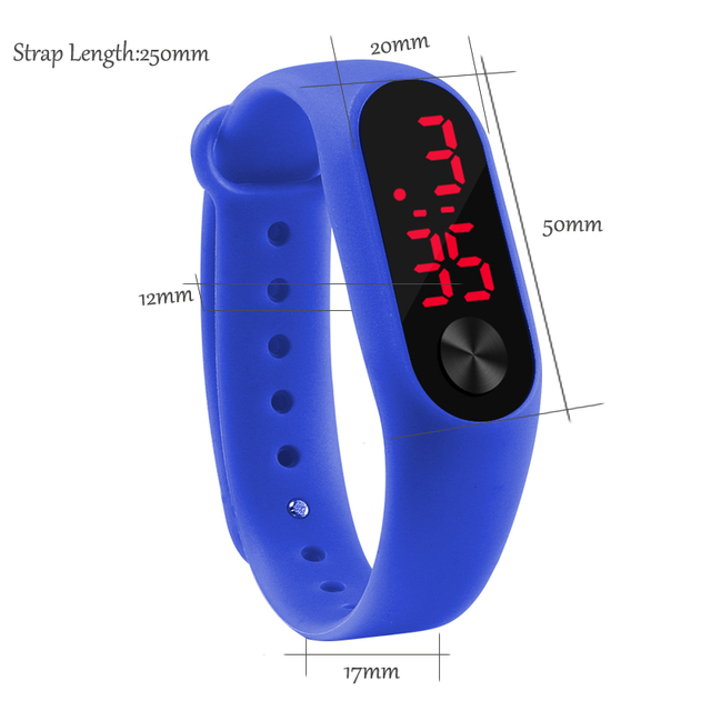 Fashion Men Led Digital Watch Women Casual Yoga Silicone Sports Wristwatch Children Kids Watches Outdoor Bracelet Watches Clock 5