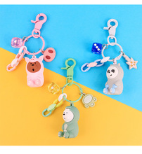 2019 Hot New Cute Three Bears Grizzly Panda Ice Bear Figure Keychain We Bare Pendant Fgure Toys For Kids Gift