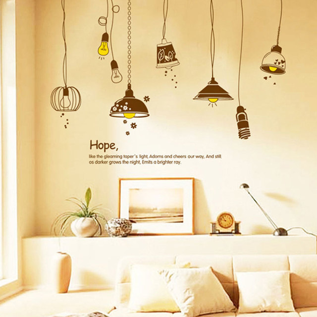 Free shipping cute old electric light bulb background decorative free shipping cute old electric light bulb background decorative wall painting wall sticker home home decor aloadofball Image collections