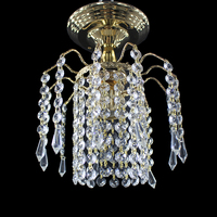 Vintage Loft Gold Color Crystal Lustre Ceiling Lights E27 Plafonnier LED Ceiling Lamp Modern For Living