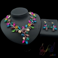 Free Shipping American Crystal Jewelry Set Imitation Jewellery Fake Gold Jewelry