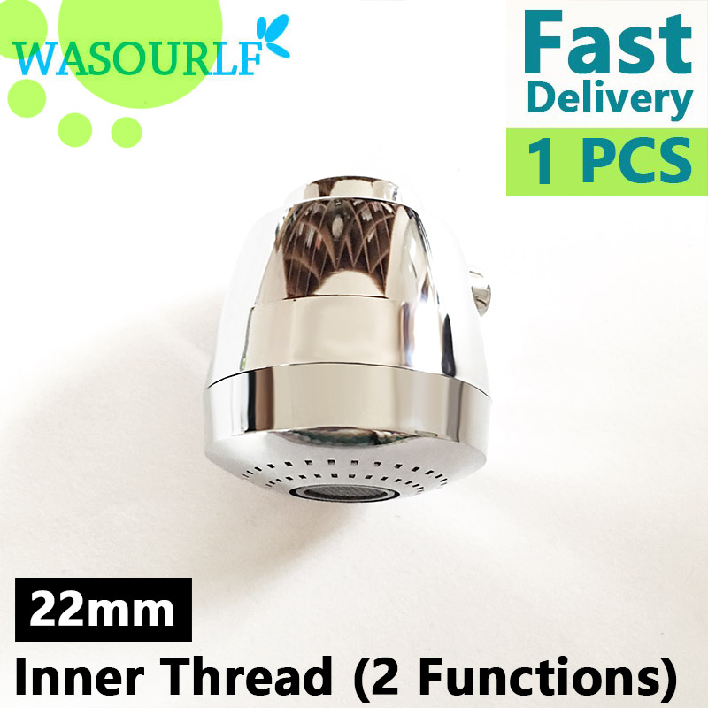 WASOURLF 360 Swivel Faucet Aerator Tap Nozzle Adapter Kitchen Faucet Sprayer Shower Chrome Spout M22 Female Thread Accessories 3