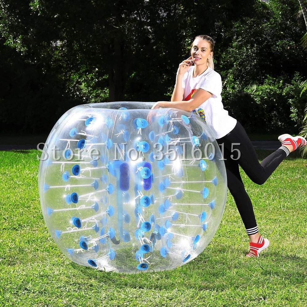 Livraison gratuite boule de butoir gonflable 1.5 m (5FT) bulle ballon de football matériau de polyuréthane thermoplastique boule de Zorb balle de Hamster humain pour adultes