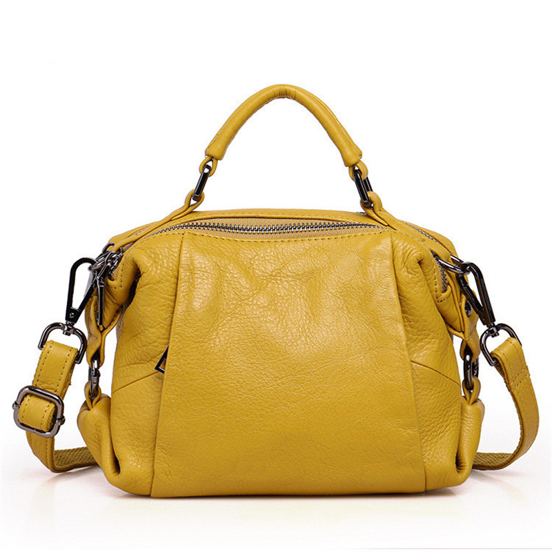 100% Genuine Leather Women handBags Buissiness Nature Real Leather Shoulder Bags Cow Leather women Messenger bags female totes 2017 new female genuine leather handbags first layer of cowhide fashion simple women shoulder messenger bags bucket bags