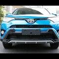 Styling de carro Para Toyota RAV4 RAV 4 2016 2017 ABS plástico Frente + Trás Bumper Placa Skid Guarda Protetor de Tampa Guarnição Acessórios 2 Pcs