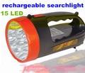 Atualize 15led recarregável searchlight lanterna levou holofotes para a caça de acampamento ao ar livre iluminação plug UE