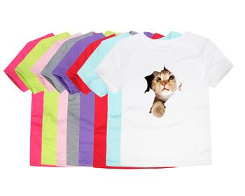 Nowe letnie koszulki z krótkim rękawem dla dzieci koszulki z krótkim rękawem dla dzieci bawełniane koszulki z krótkim rękawem dla dzieci 3D koszulki dla chłopców koszulki z krótkim rękawem tanie i dobre opinie SMHONG COTTON Aktywny Zwierząt REGULAR O-neck Topy Tees Pasuje prawda na wymiar weź swój normalny rozmiar Unisex TTTZ