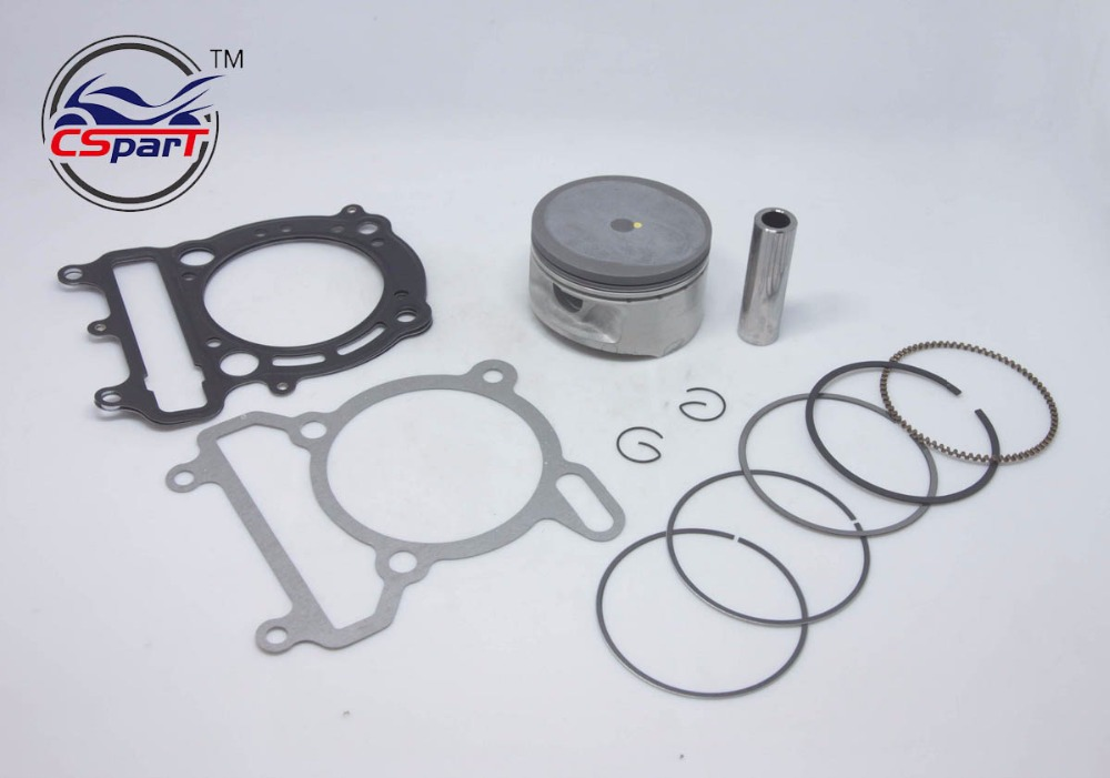 72.5MM Piston Ring Gasket Kit For VOG LINHAI YP VOG 300 300cc Tank Touring JCL Buyang D300 Gsmoon ATV Buggy Scooter Parts 132mm clutch shoe majesty 250 250cc 260 260cc 300 300cc yp250 jl250 lh300 buyang feishen gsmoon linhai scooter atv quad buggy