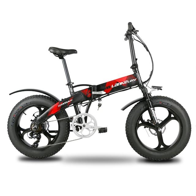 Lankeleisi X2000Plus Bici Elettrica Fat Tire Ebike 7 Velocità Completa Sospensione Pieghevole 500 w Motore 48 v 12.8A Batteria Al Litio e-bike