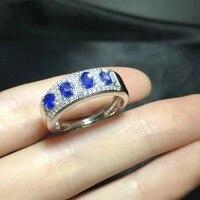 2018 Qi Xuan_Fashion Jewelry_Blue камень простые элегантные женские туфли лодочки на Rings_S925 однотонные Серебристые модные Rings_Manufacturer прямые продажи