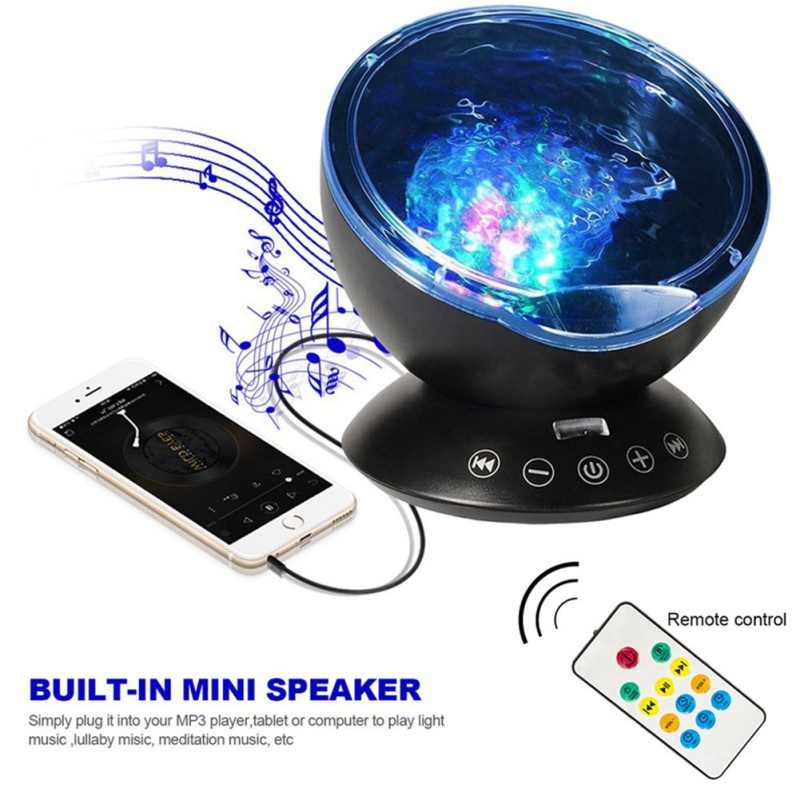 Светодиодный ночник лампа-проектор Звездное небо проекционный светильник ночник волны океана подарок сверкающие принадлежности для вечеринки украшение для детской комнаты