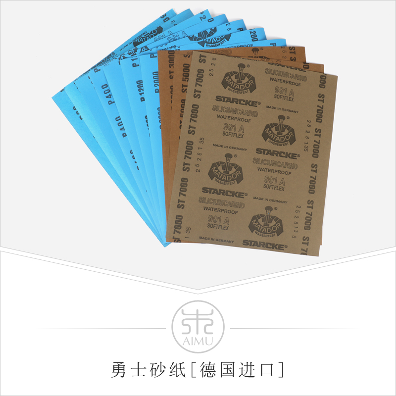 10 Pieces Sandpaper Set 80Grit To 7000 Grit Sanding Paper Water/dry