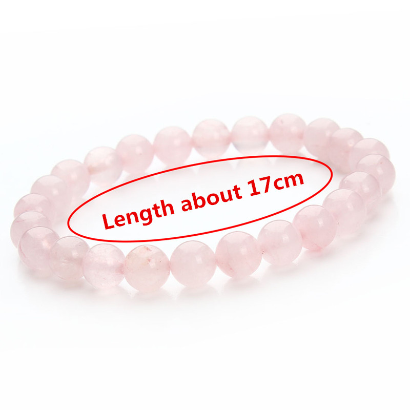 17 New Summer Style Natural Stone Beads Bracelet Women Men Pink Blue White Yellow Red Beaded Stretch Bracelets Bangles F2852 30