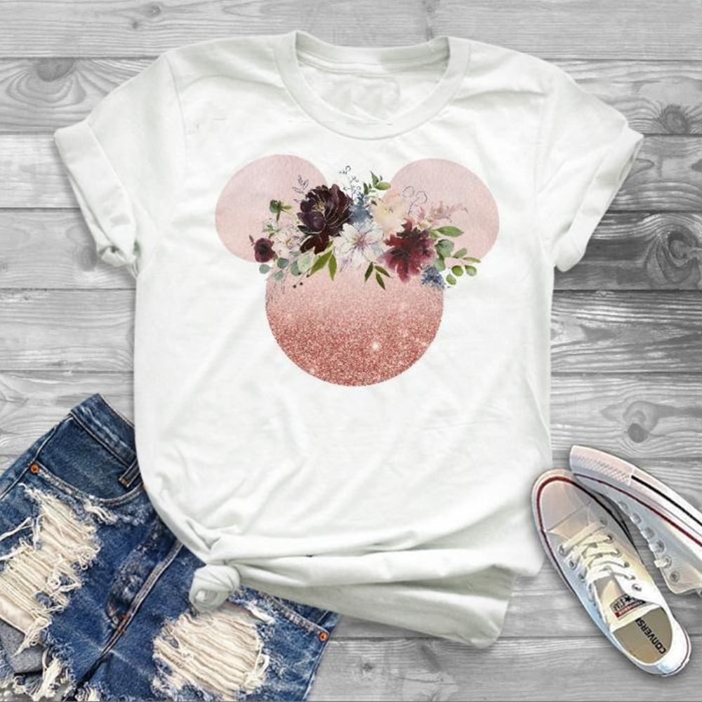 Flower Shirts  Shirt Girl Tumblr Grphic Blouse Cute Female Fashion 2019 Women Graphic Printed Cute Cartoon Tees Print Shirts