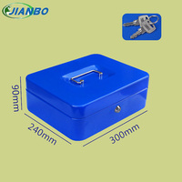 Household Security Box Portable Steel Petty Lockable Cash Money Coin Safe Box With Key Lock Money