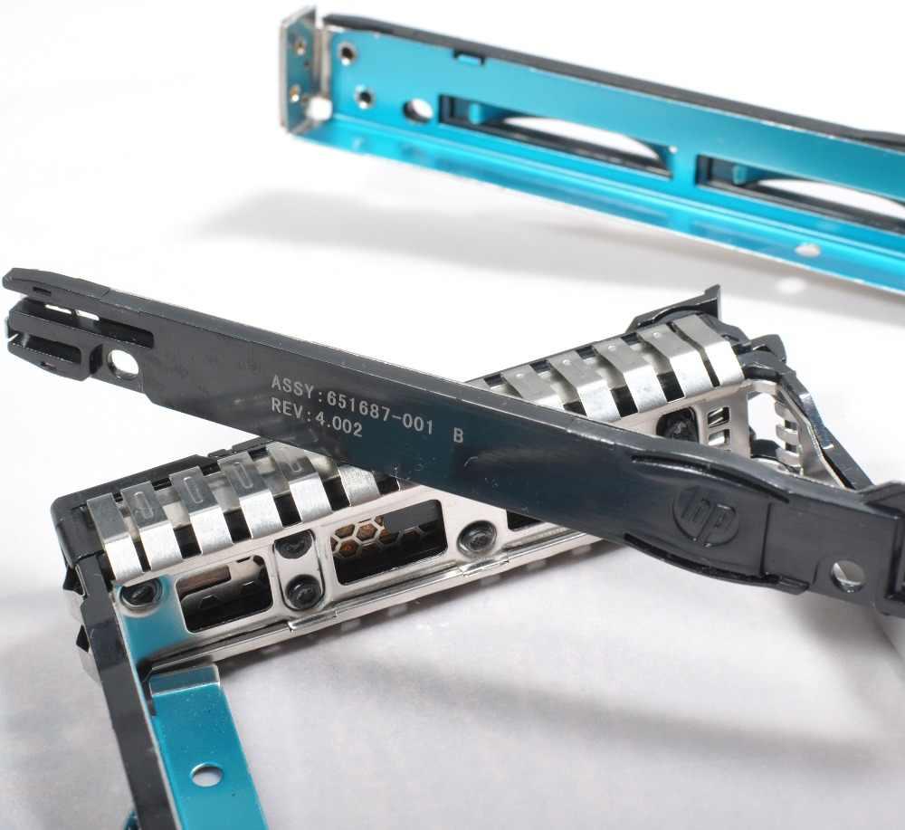 """HP 651687-001 2.5 """"SFF SAS SATA HDD מגש Caddy עבור G8 Gen8 G9 DL380p 651699 DL360p עם שבב LED 651699-001 ML350e ML310e"""