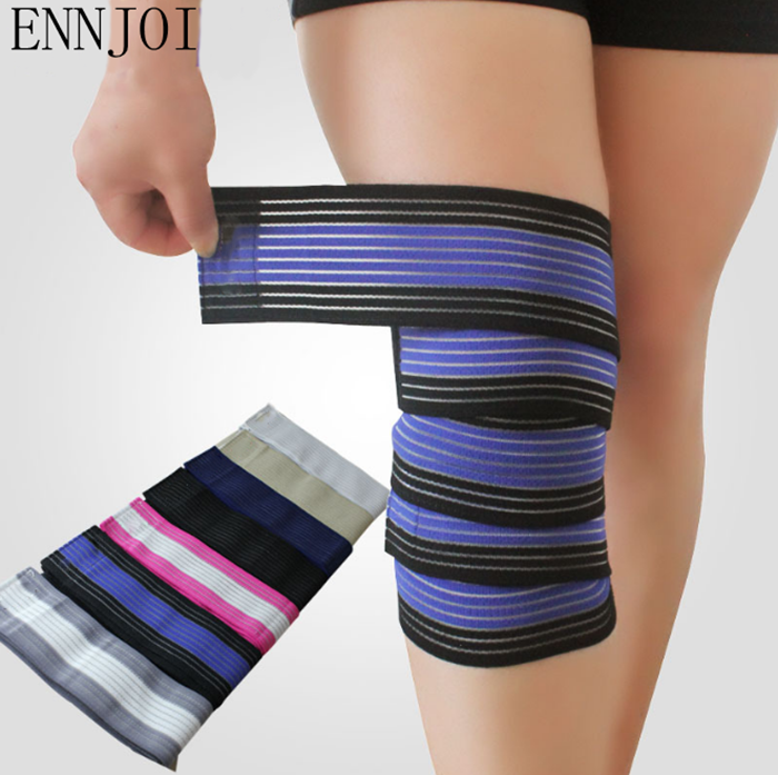Elastic Breathable Warmth Anti sprain Bandage Knee Support Pad Basketball font b Football b font Volleyball