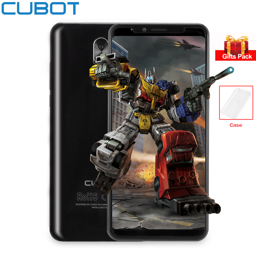 CUBOT X18 Plus Android 8.0 5.99'' 18:9 FHD Full Screen 20MP+13MP Cameras MT6750T Octa Core 4GB+64GB 4G Mobile Phone Fingerprint