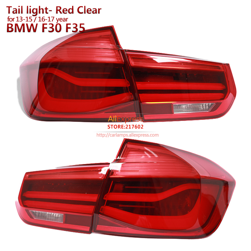 for BMW 3-Series F30 F350 318i 318Li 320i LED Tail lights 2013-2015/2016-2017 Smoke Black / Red Color for choice bmw 318 в москве
