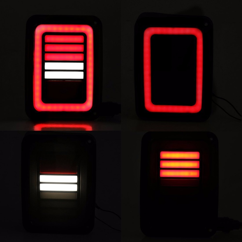 The Newest Jk Car Taillight LED Tail Light With Brake Turning Reverse Light For Jeep Wrangler 07-16 Europe/US Type car taillight spare tire led third brake light spare tire cover red warning light for jeep wrangler jk accessories 2007 2017