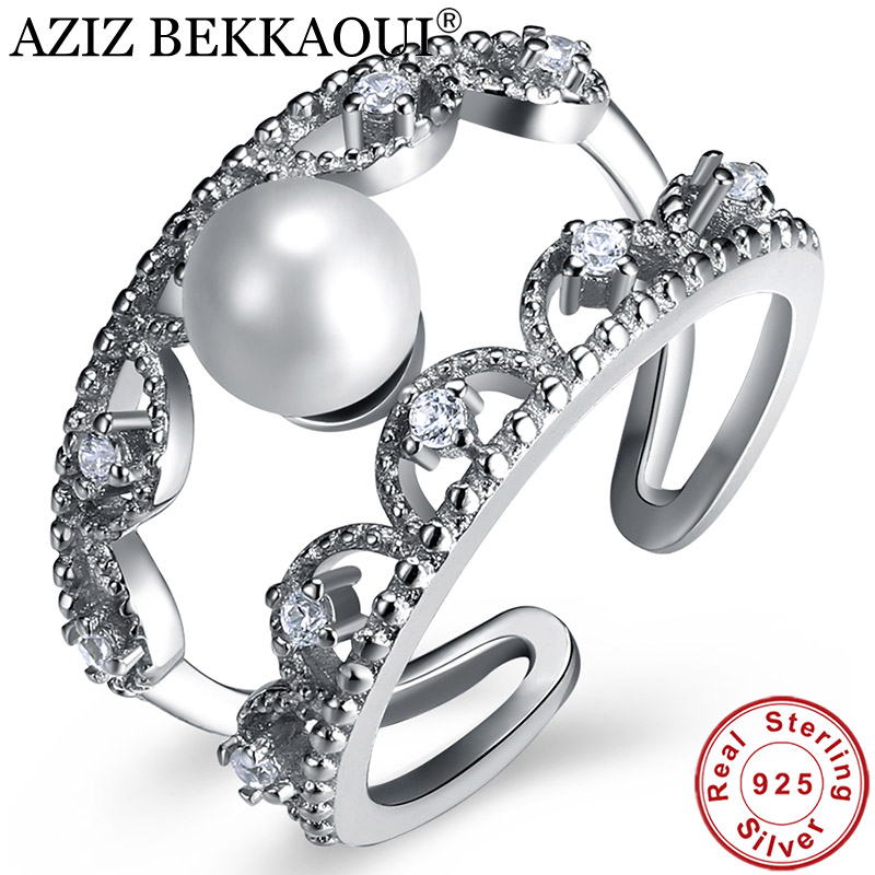 Finger-Ring Wedding-Jewelry Openwork 925-Sterling-Silver Women Classic for Open-Cuff