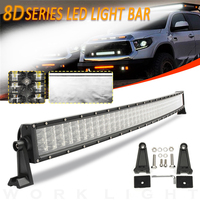 52inch 600W LED Long Light Bar Car Roof Work Light Aluminum Shell 200LED Curved Lamp Bar for Truck ATV RZR Trailer