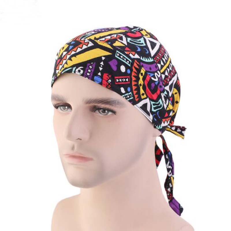 New Cotton Amoeba Pirate Hat For Women Men Spring Autumn Brand Skullies Beanies Tail PRE-TIE-STYLE Hip-hop Hat Chemotherapy Cap(China)