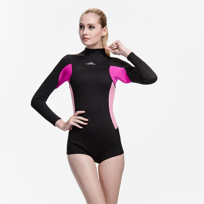 2019 offre spéciale femme à manches longues maillot de bain femmes plongée sous-marine Surf plongée combinaisons humides 2mm néoprène combinaison maillots de bain anti-éruption une pièce - 4