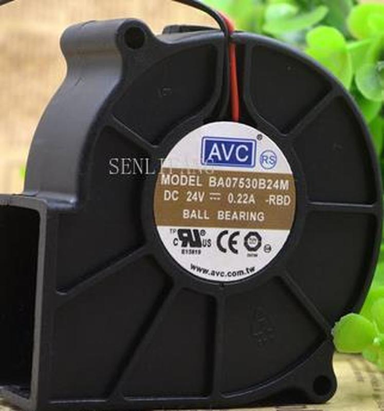 For AVC BA07530B24M 75*75*30mm 24V 0.22A Turbo Blower Cooling Fan 3pin Cooling Fan Processor Cooler Heatsink Fan