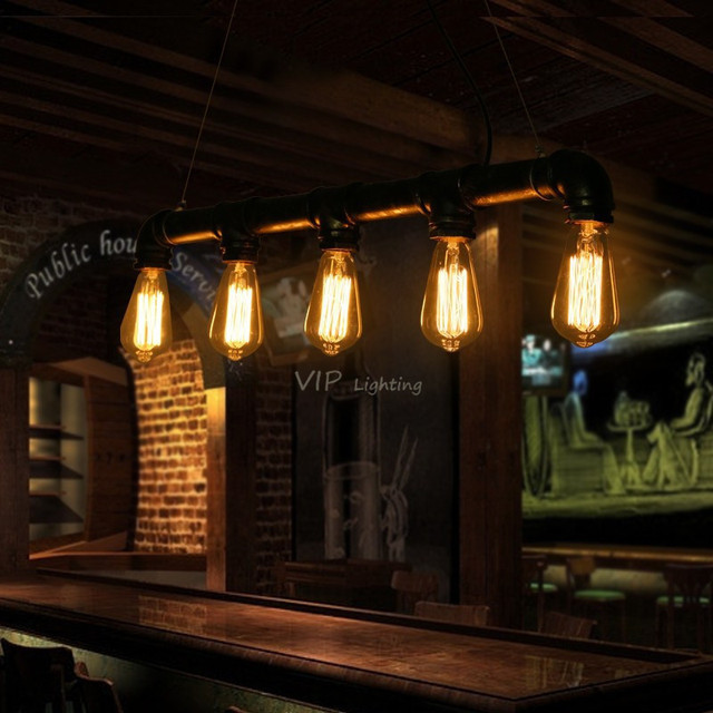 edison pipe lamp loft style light antique kitchen restaurant coffee bar counter vintage pendant lamp free edison pipe lamp loft style light antique kitchen restaurant      rh   aliexpress com