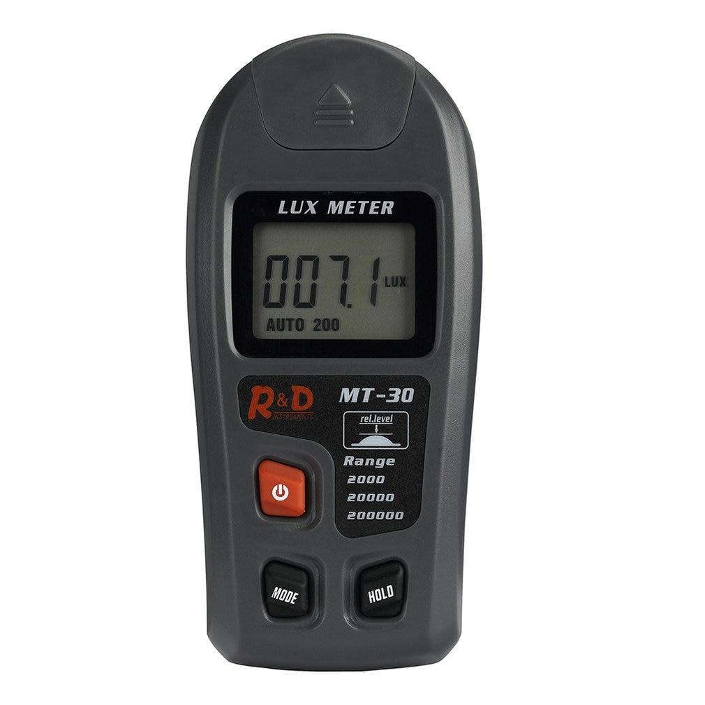 Mètre portatif multifonctionnel tenu dans la main de Lux de Digital de MT-30 0.1-200000lux