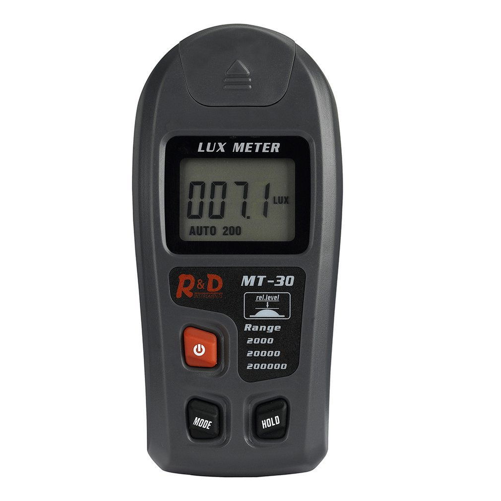 MT-30 Handheld Multifunction Digital Lux Meter 0.1-200000lux High Accuracy Luxmeter Portable Illuminance Meter