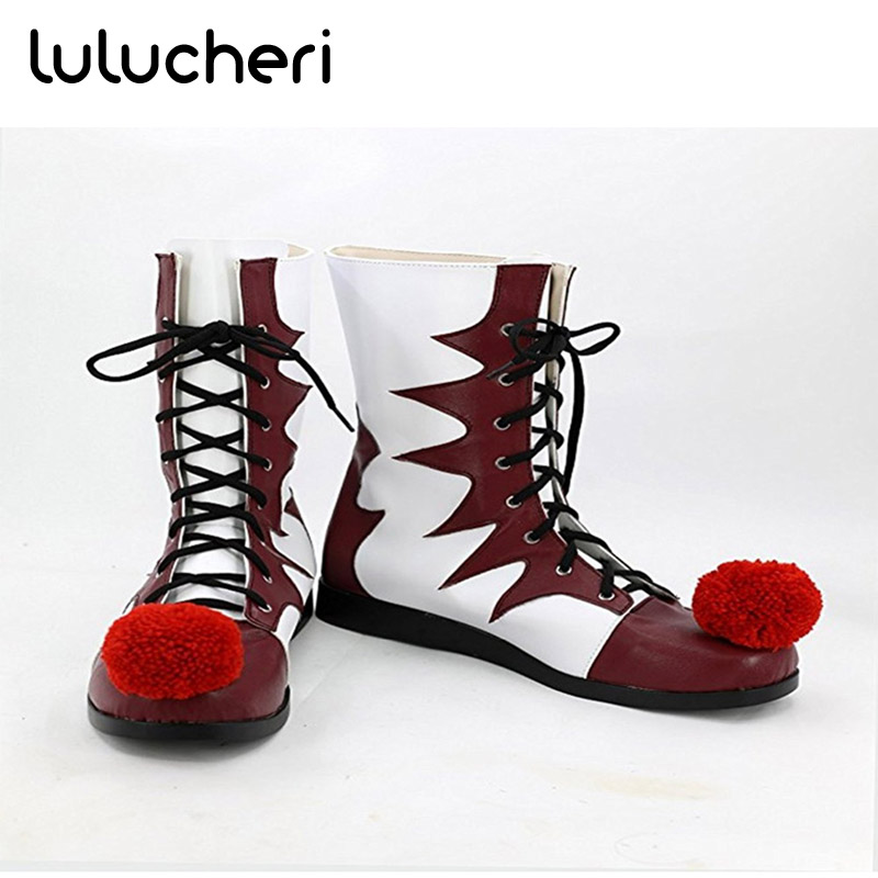 Stephen King's It Cosplay Shoes Pennywise Cosplay Horrible Clown Boots Halloween Party Costume Accessories for Women Man