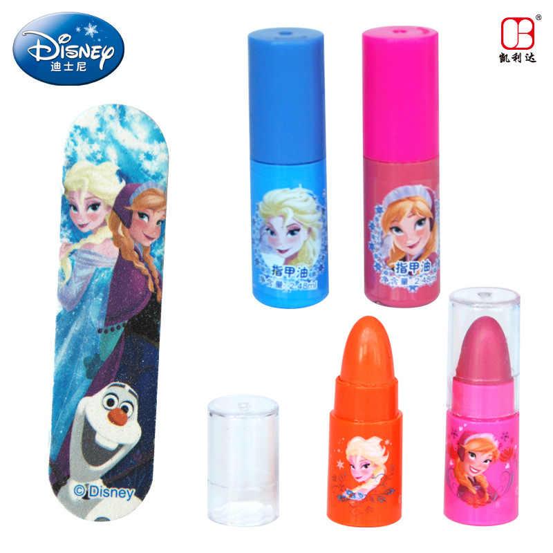 Disney congelado crianças brinquedos maquiagem Inverno Romance Feliz Waltz Beleza Maleta de Maquiagem Cosméticos de Maquiagem Infantil meninas brinquedos presente de aniversário